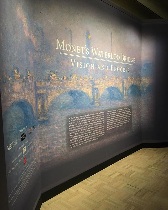 Looking for something to do with family over the Holidays? Don't miss Monet's Waterloo Bridge exhibit @magrochester before it ends on January 6th! It's amazing and very educational - we learned so much about Monet and his process. #tagthemag #roc #rochesterny #explorerochester #thisisroc #visitroc #monetatmag