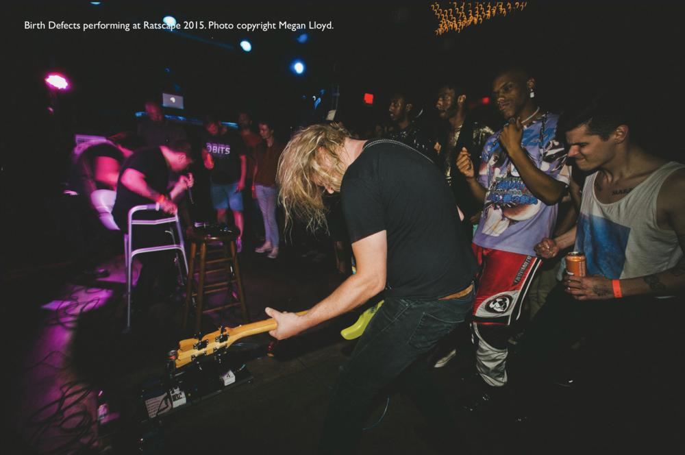 Birth Defects performing at Ratscape 2015 @ Ottobar. Photo by Megan Lloyd.