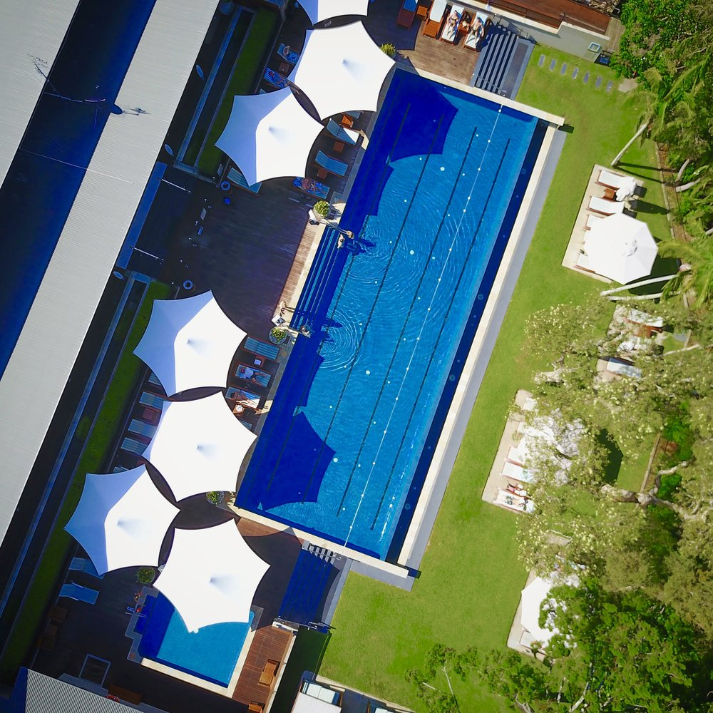 RELAX POOL SIDE AT THE BYRON AT BYRON RESORT & SPA.