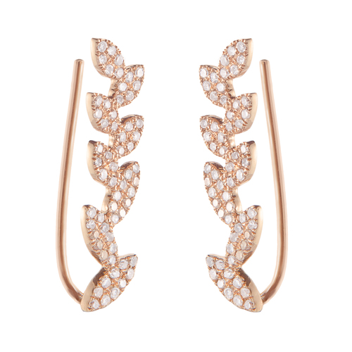 Flourish Earring, Rose Gold