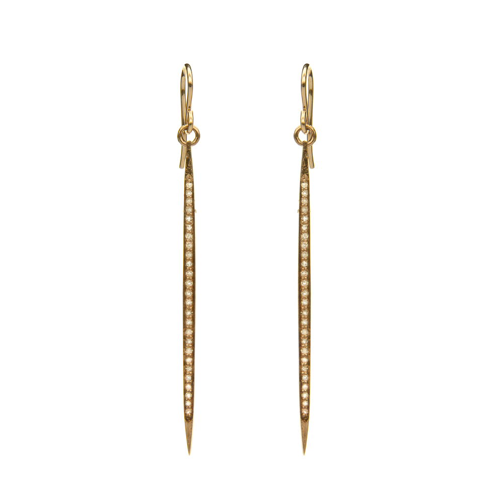 Diamond Stick Earring, Gold