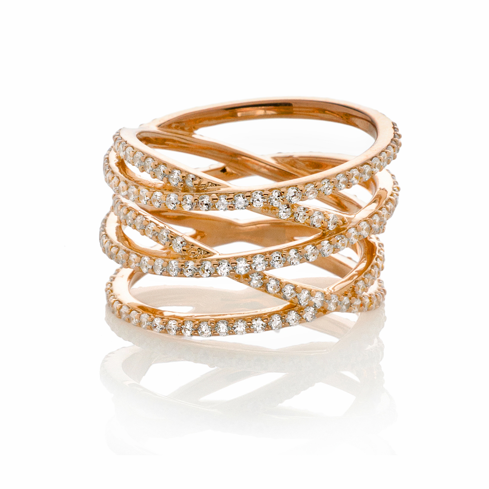 Crisscross Ring Rose Gold