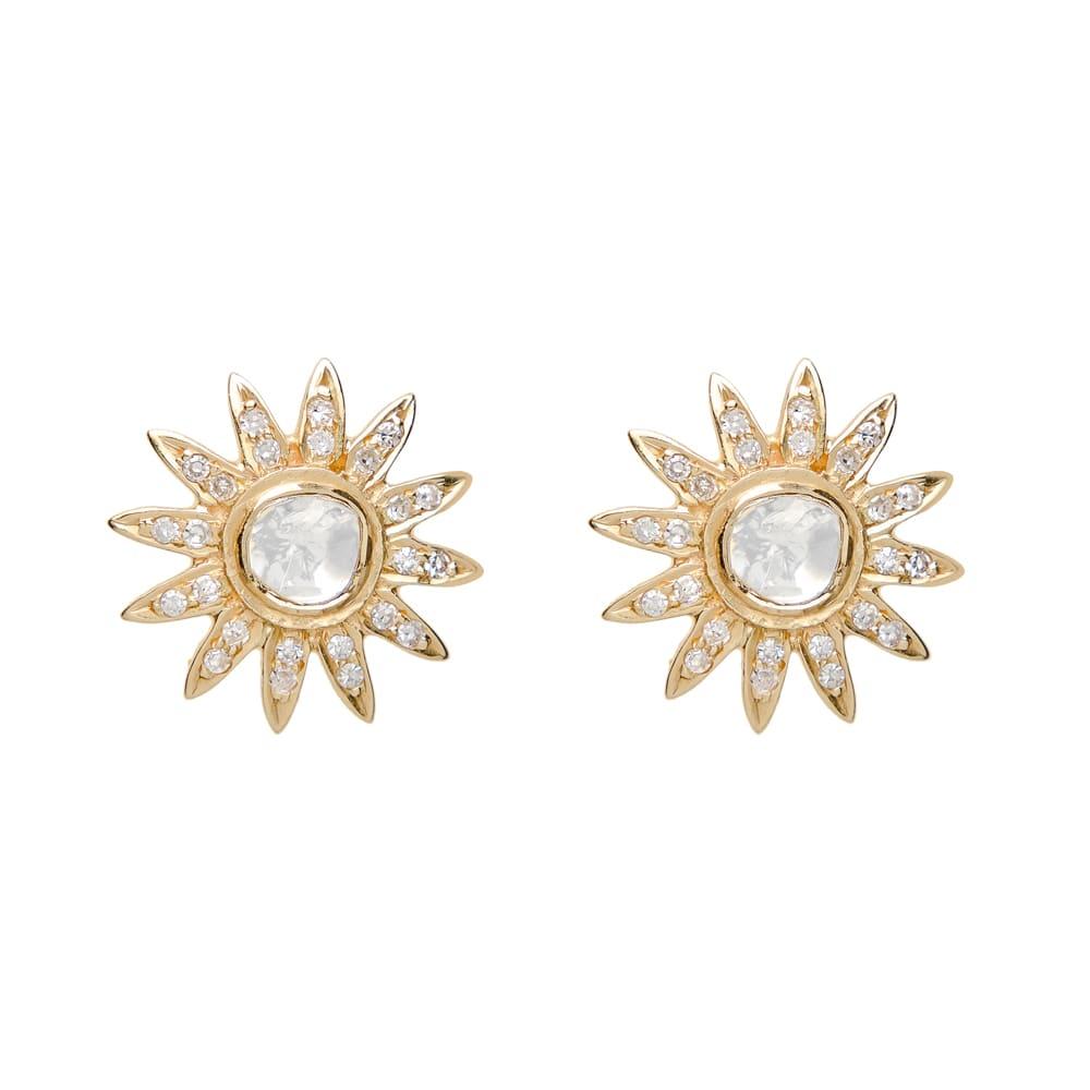 0789eb4c7 SLICED DIAMOND SUNBURST EARRING, GOLD — JEN HANSEN