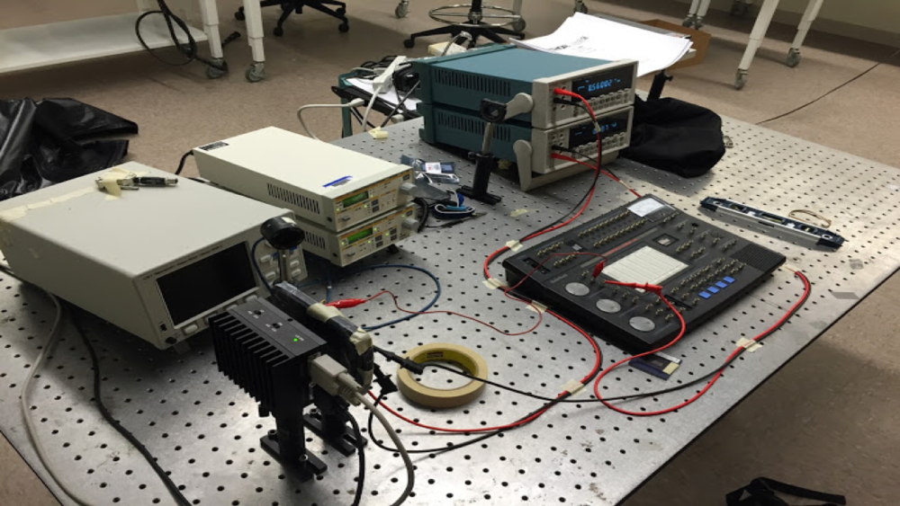 Conducting indoor testing in the laser lab
