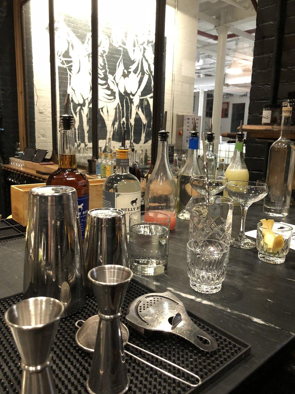 Cocktail Class Setup