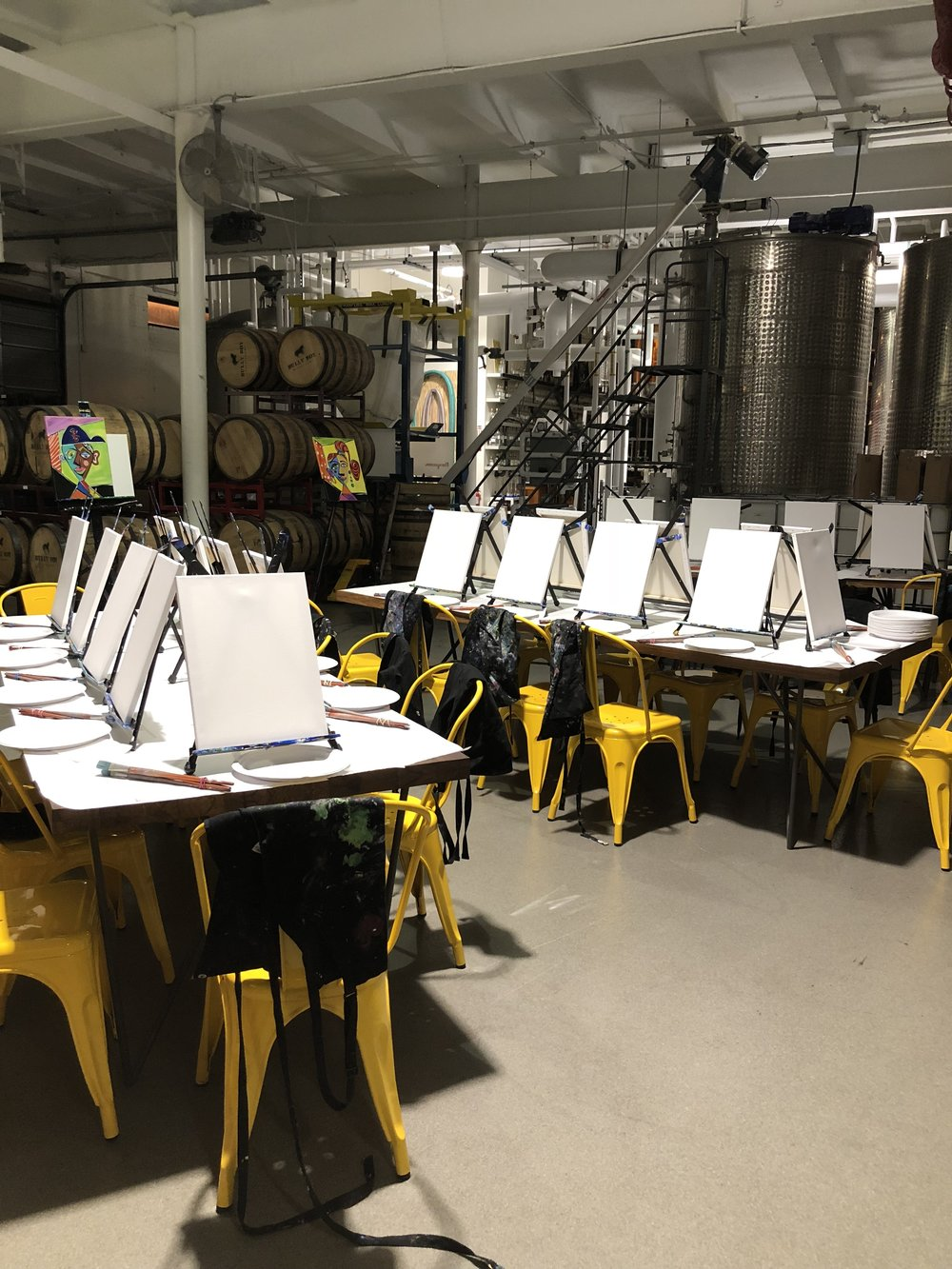 Paint Night on the Production Floor