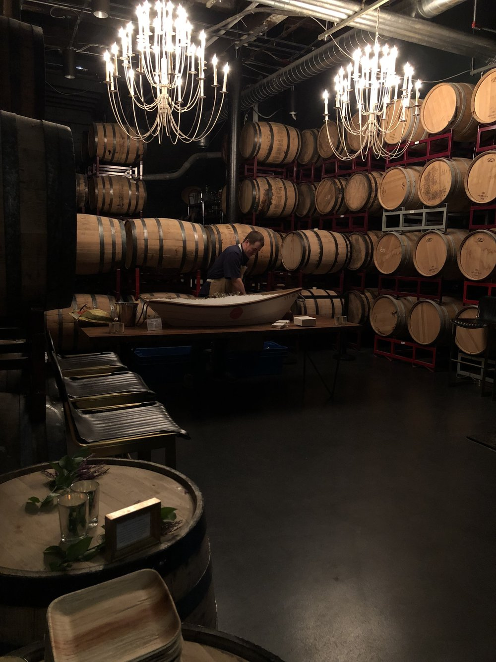 Island Creek Oyster Bar in the Barrel Room