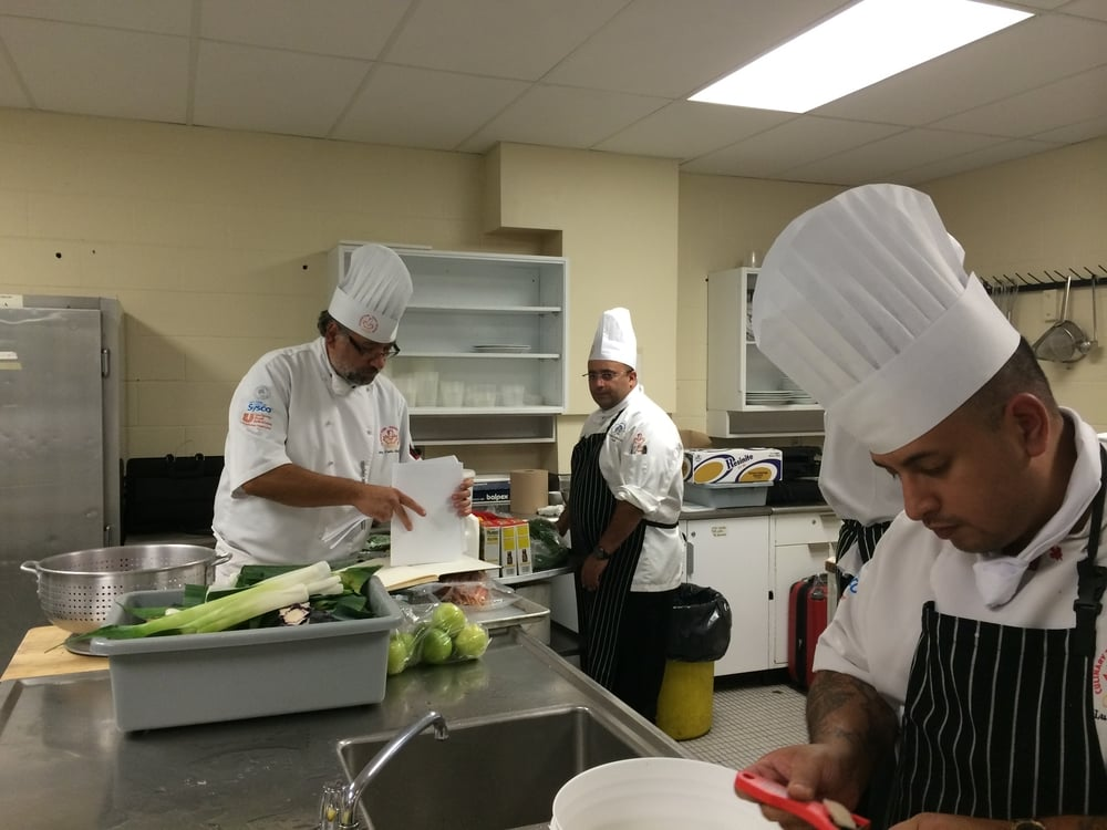 (From the Left) Chef JC, Chef Hamid and Chef Luis