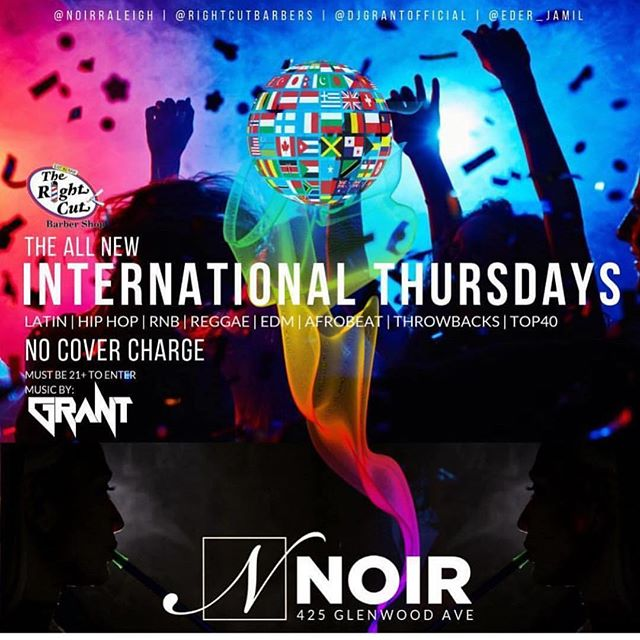 Tonight At Noir!!! Free To Get In, Hookahs, Great Music, Drink Specials!!! Hosted By @rightcutbarbers @djgrantofficial @eder_jamil See You Tonight!!! @noirraleigh  @kelly.turnage.58 @therealgigidream @bellaxbambina @1aaron_stark @coachboi9248 @jasminerai_ @_britneynicole_