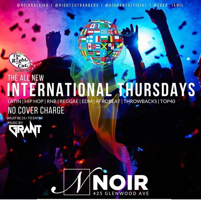 Thursday Nights Club Noir!!! Hookahs, Free To Get In, Drink Specials, Good Music!!! Doors Open At 10, See You @ NOIR Tonight!!! @noirraleigh @kelly.turnage.58 @therealgigidream @bellaxbambina @1aaron_stark @djgrantofficial @rightcutbarbers @eder_jamil @iamjimmie919