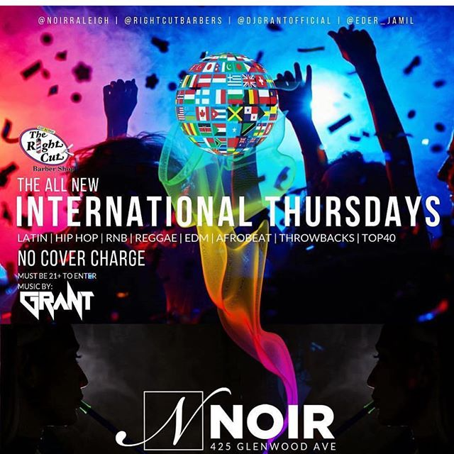 Thursday Nights Club Noir! Free To Get In, No Cover. Drink Specials. Hookahs. Good Music. See You At Noir Tonight!!!