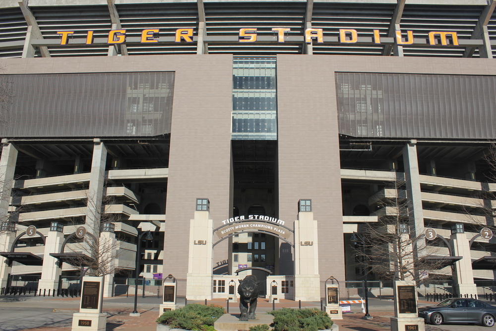 Tiger Stadium comes alive Saturday nights in the fall for home football games.