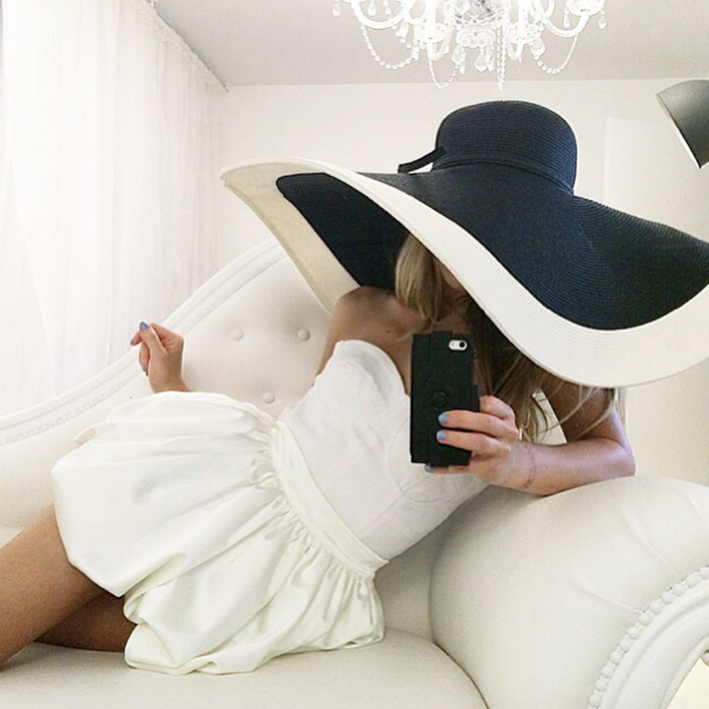 white love angeles skirt