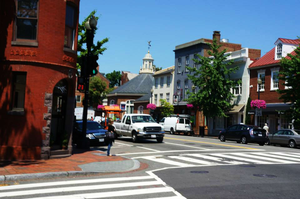 """""""The Heart of Georgetown Shopping- """"M"""" Street."""" cc: Emily O'Rourke"""