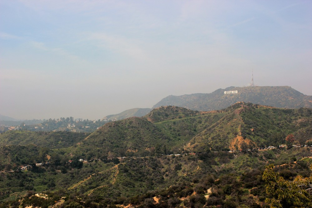 The view from  Griffith Park.