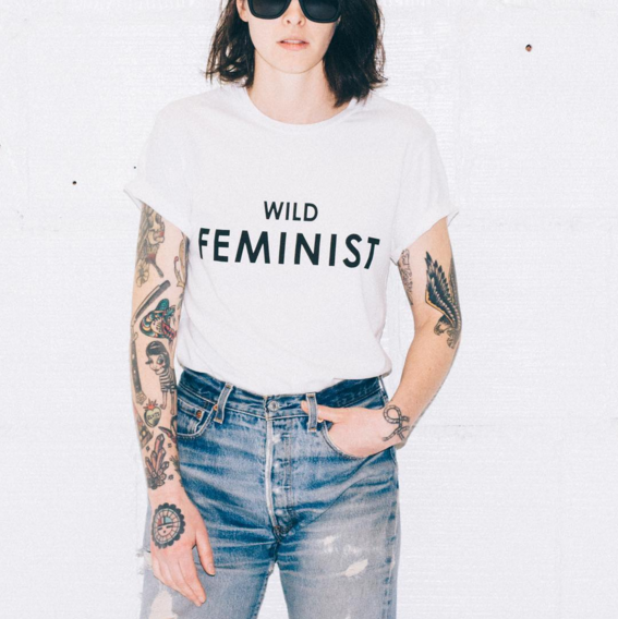 Photo from Wildfang Instagram / The Wild Feminist Tee