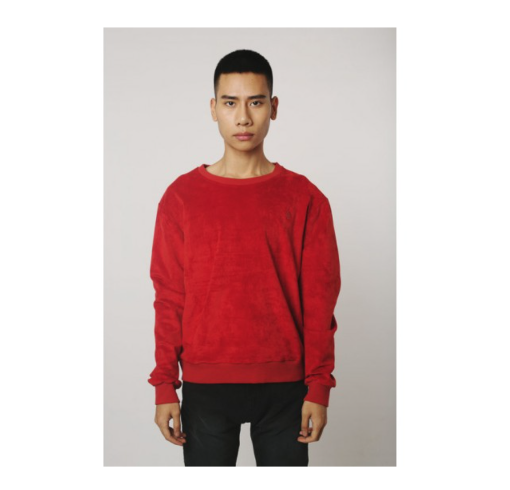 - This crewneck sweatshirt from Qilo NYC is made using premium, ultra-soft microfiber suede. It features metal zippers on both sides for subtle touch of edginess.