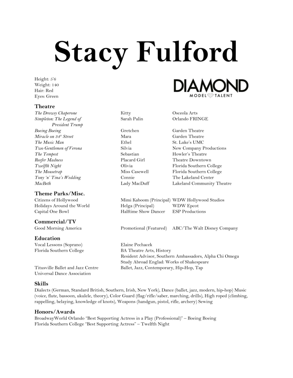 resume stacy fulford