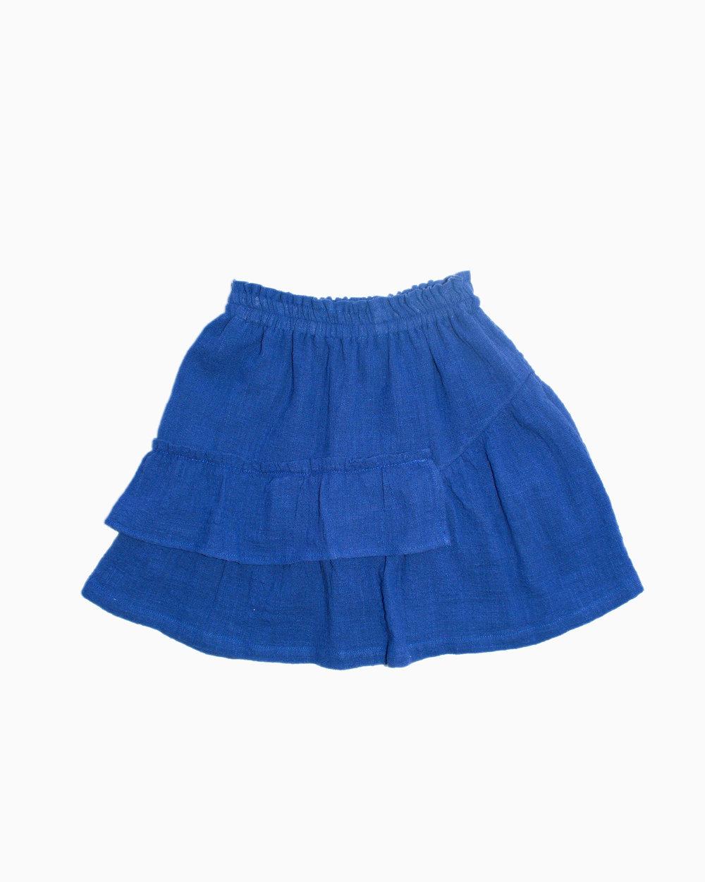 deep blue skirt