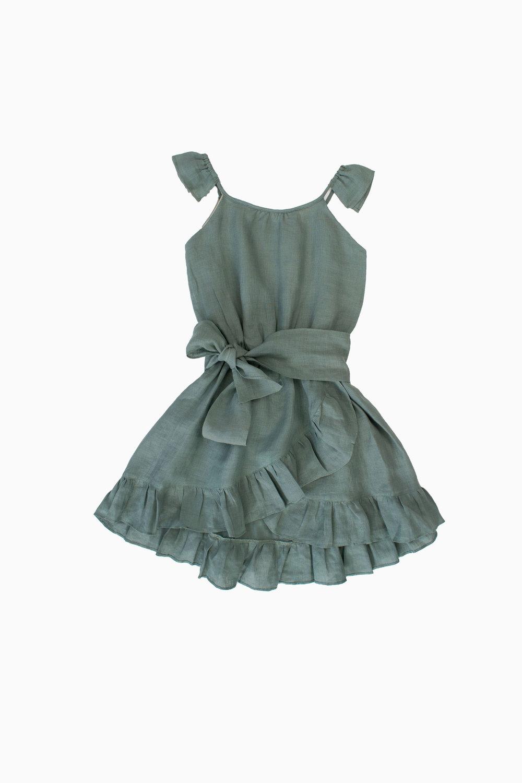 green almond dress