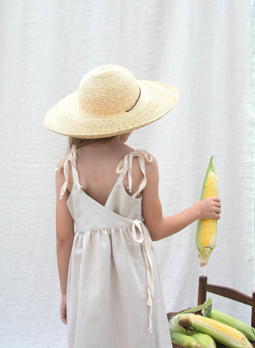 apron dress sand