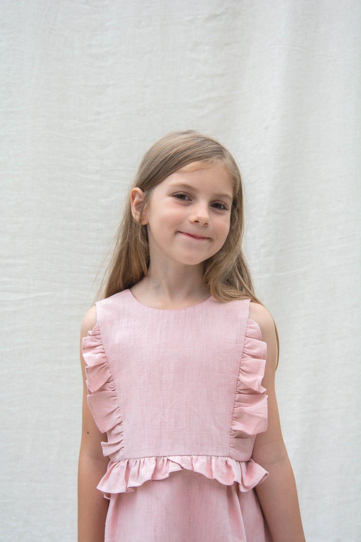 raspberry soft pink dress