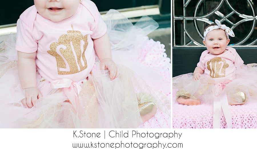 Half Birthday | Pink Tutu w/ gold accents