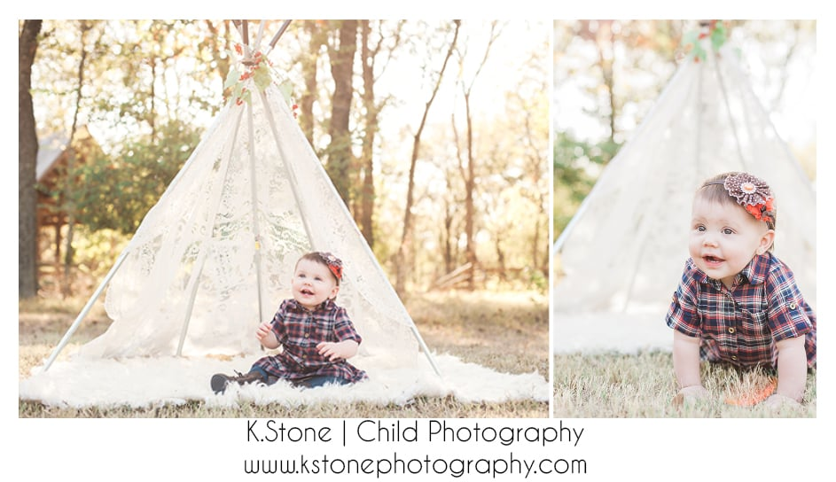 Fall teepee with tons of smiles