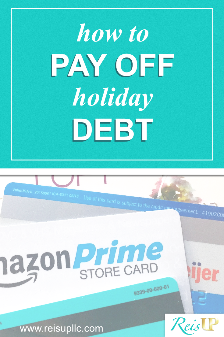 ReisUP How to pay off holiday credit card debt