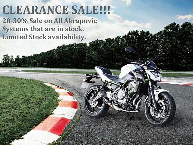 CLEARANCE SALE #akrapovic #motorcycles #purepower #bestdeals #massivesavings
