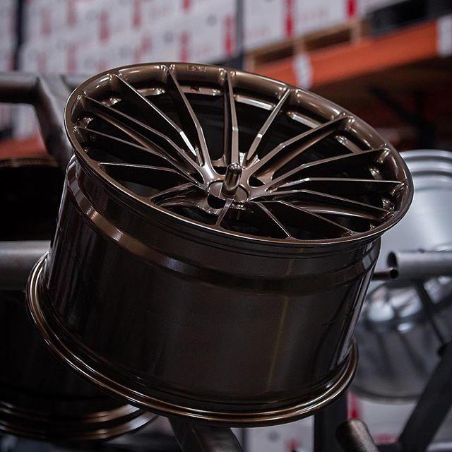 HRE P103 gloss bronze in progress. #hrewheels #customforged #bespoke #bmw7series #industrystandard