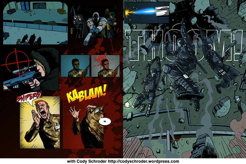 Mercenaries of War Comic Colouring And Lettering