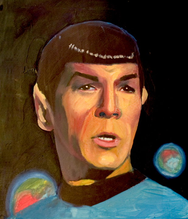 Spock Oil Painting
