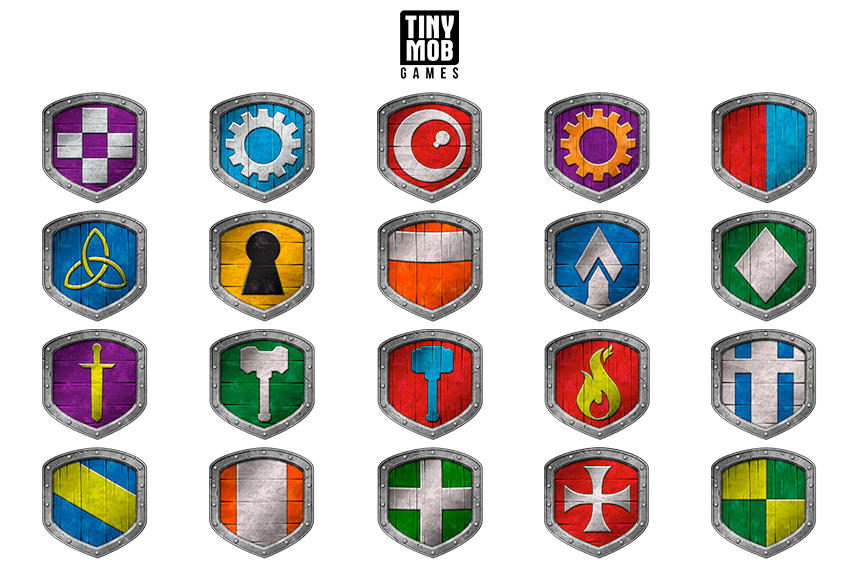 Shield Icons for Tiny Mob Games