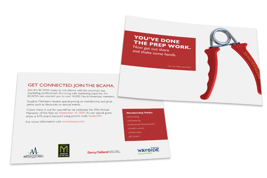 BCAMA Handout Card for Marketing Students