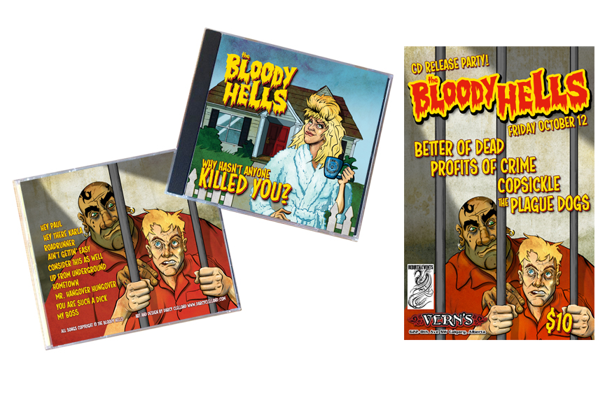 Bloody Hells CD & Poster Illustration and Design