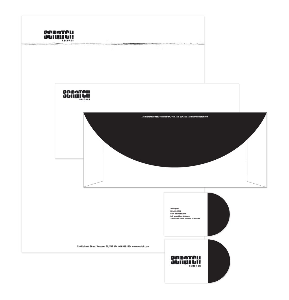 Scratch Records Logo & Stationery
