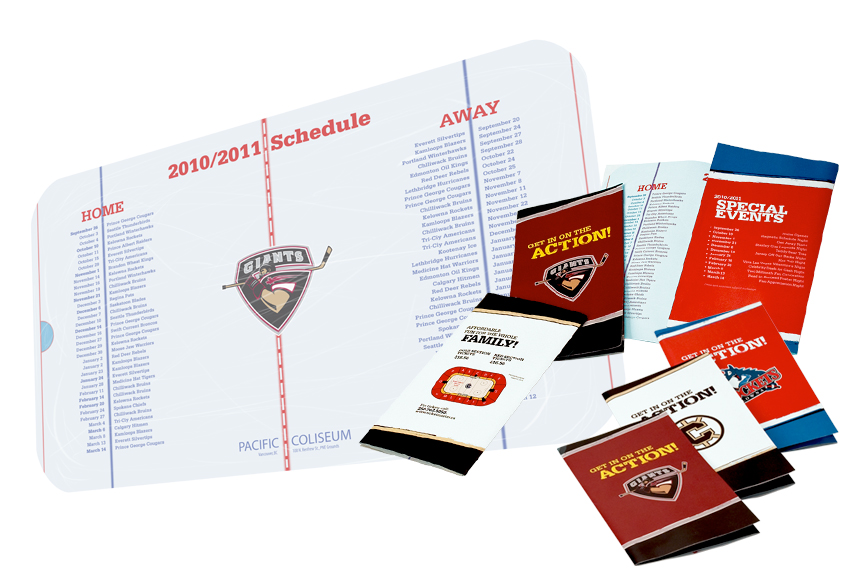 WHL Schedule and Brochure