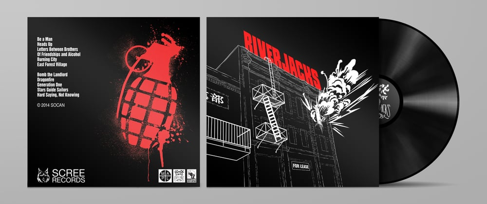 River Jacks LP Illustration & Design