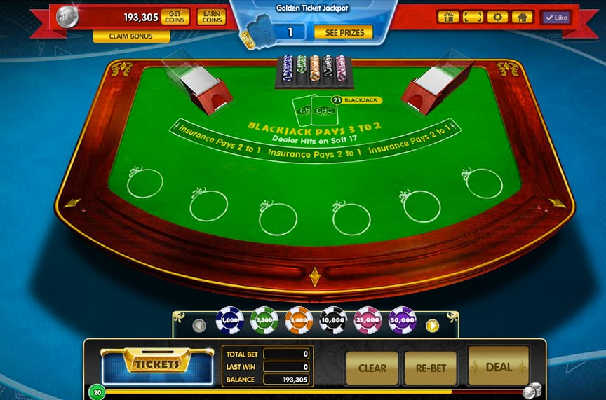 Gamehouse Casino Blackjack UI