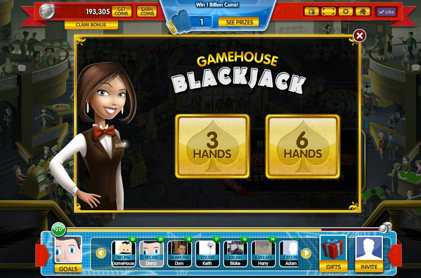 Gamehouse Casino Blackjack Lobby