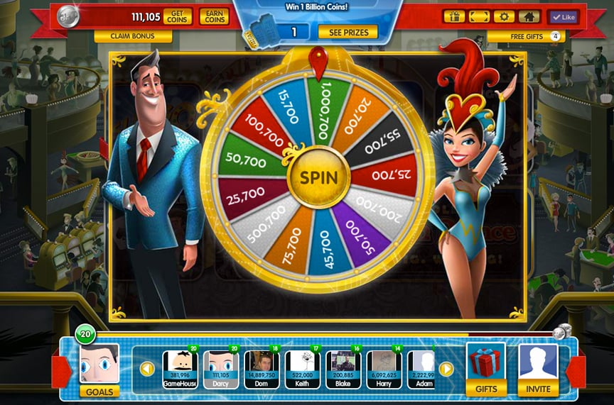 Gamehouse Casino UI