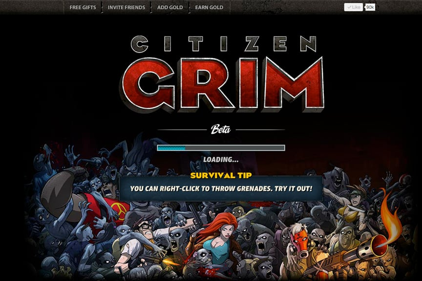 Citizen Grim Loading Screen