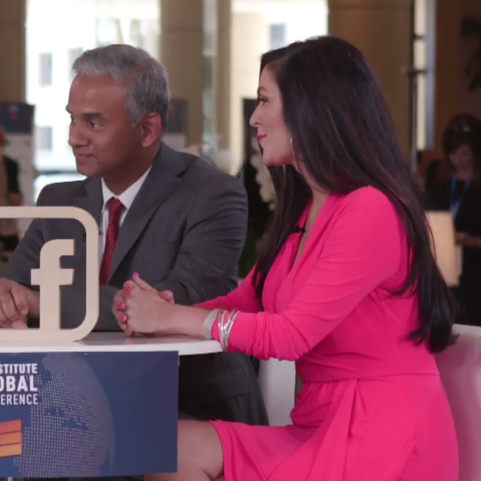 "C     indy Whitehead and NV Tyagarajan   FACEBOOK LIVE  Milken Institute's Melissa Stevens is LIVE with  The Pink Ceiling 's Cindy Whitehead and  Genpact 's NV ""Tiger"" Tyagarajan.  #MIGlobal"