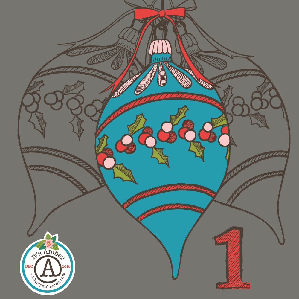 A Christmas Ornament by Amber Lynn Benton for #ItsAdvent 2016