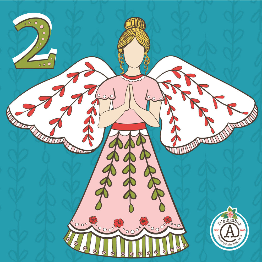A folk angel by Amber Lynn Benton  for #ItsAdvent 2016.