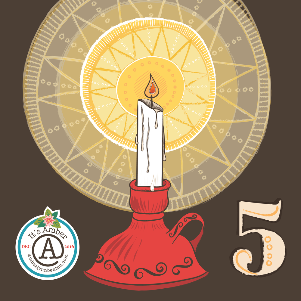 Candle Illustration by Amber Lynn Benton for #ItsAdvent 2016