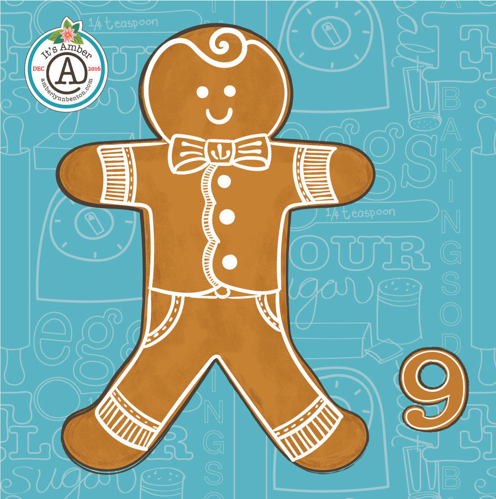 Gingerbread Boy by Amber Lynn Benton for #ItsAdvent2016