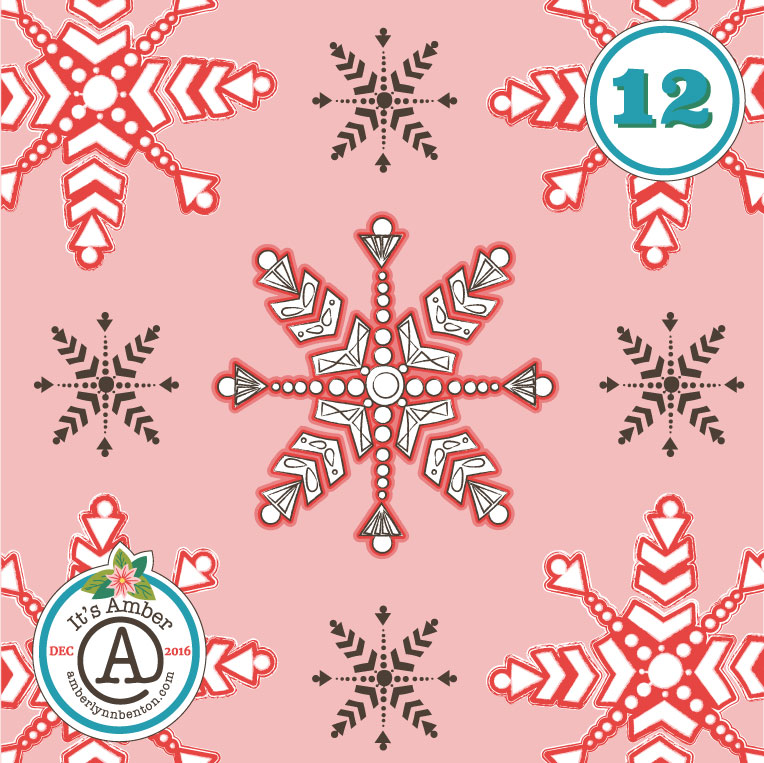 Snowflakes by Amber Lynn Benton for #ItsAdvent2016