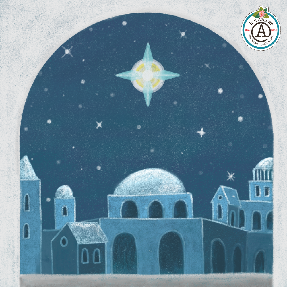 Oh Little Town of Bethlehem by Amber Lynn Benton for #ItsAdvent2016